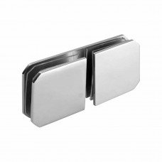 Ozone Satin Stainless Steel Glass to Glass Connect...