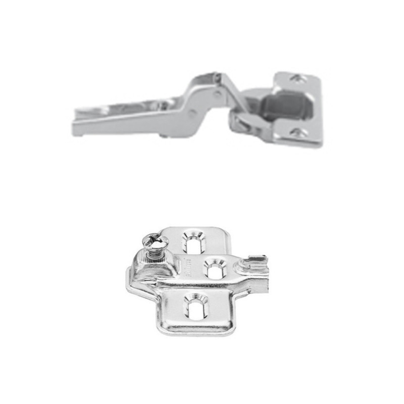 Blum Modul 100° Standard Hinge For Dual Application and Modul Steel Cruciform Mounting Plate Set