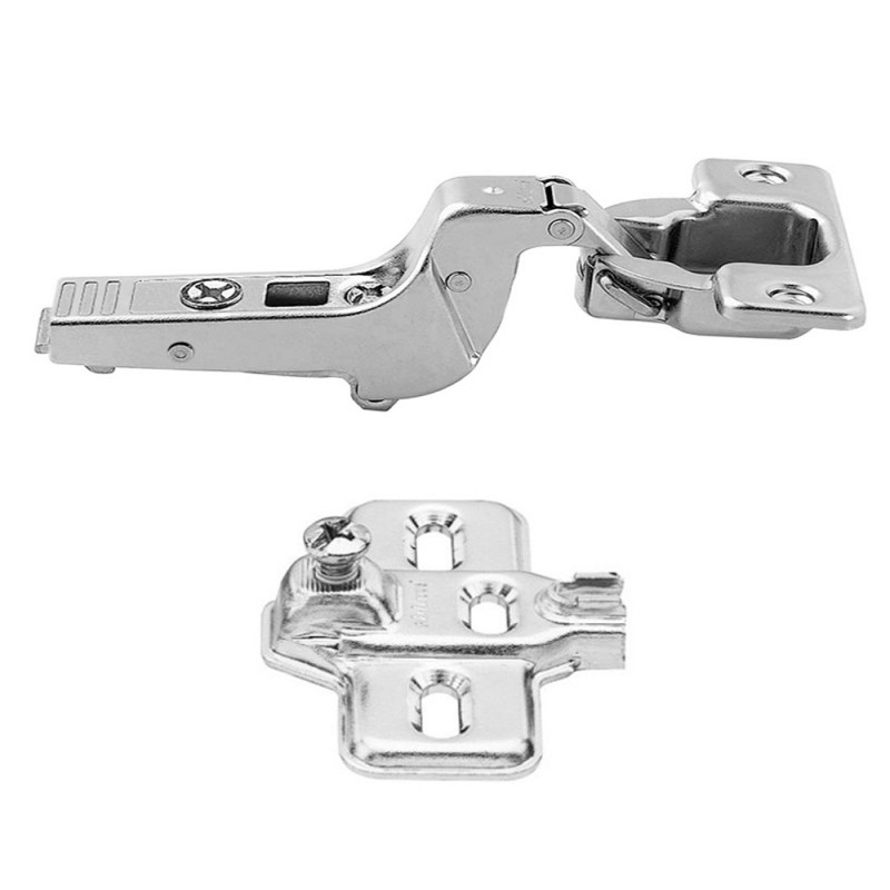 Blum Modul 100° Standard Hinge For Inset Application and Modul Steel Cruciform Mounting Plate Set