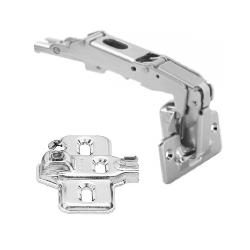 Blum Modul 170° Wide Angle Hinge For Overlay Application and Modul Steel Cruciform Mounting Plate Set
