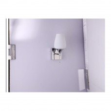 Jaquar Opal Glass Wall Lamp with Chrome Finish