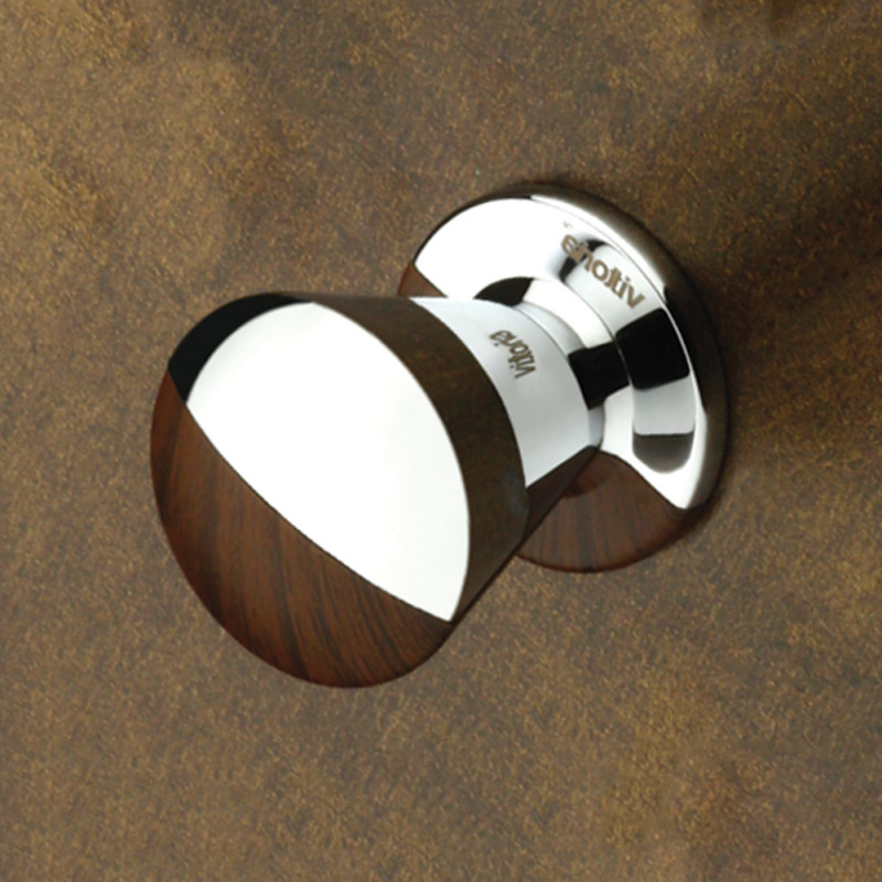 Drawer Knob M-147 - Chrome Plating - Walnut - Vittoria