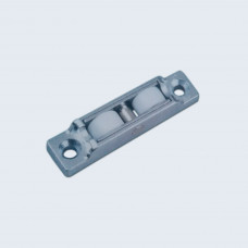 Double Nylon Roller Cast Housing with Flat Wheel f...