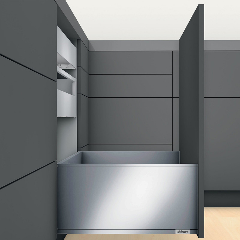 Blum Legrabox Pure F-Height Standard Drawers Stainless Steel (550.57.066)