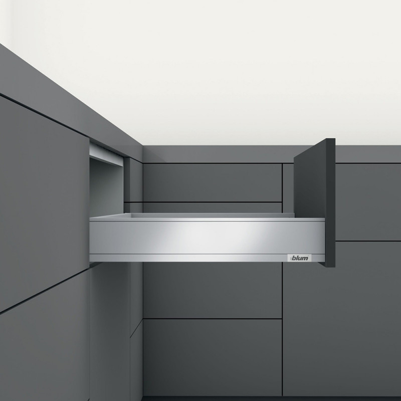 Blum Legrabox Pure M-Height Inner Drawers With Front Section Orion Grey Matt (550.56.168)