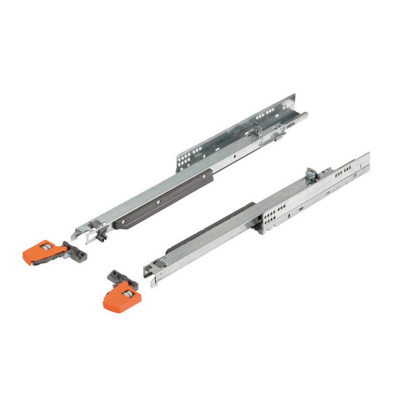 Blum Movento Full Extension Runners With Integrated Blumotion and Locking Devices Set For A Nominal Length of 450 MM and Weight Capacity of 40 Kg