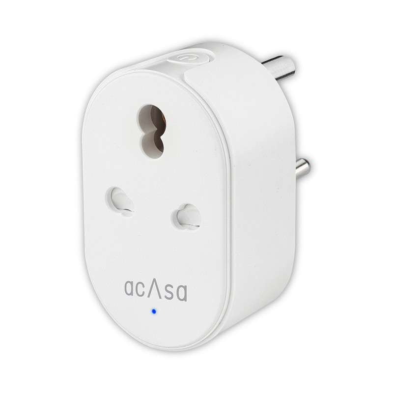 Acasa 16A Wi-Fi Pro Smart Plug | Alexa and Google Home Compatible | Surge Protector and Energy Monitor for High Power Appliances