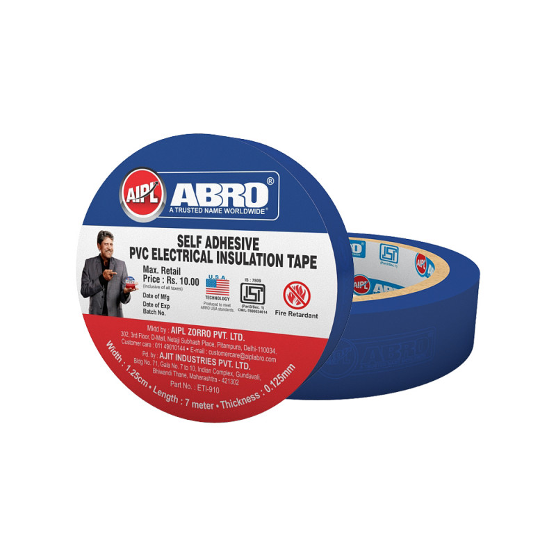 Abro Pvc Electrical Insulation Blue Tape - (18 mm x 7 meter) (Pack of 20)