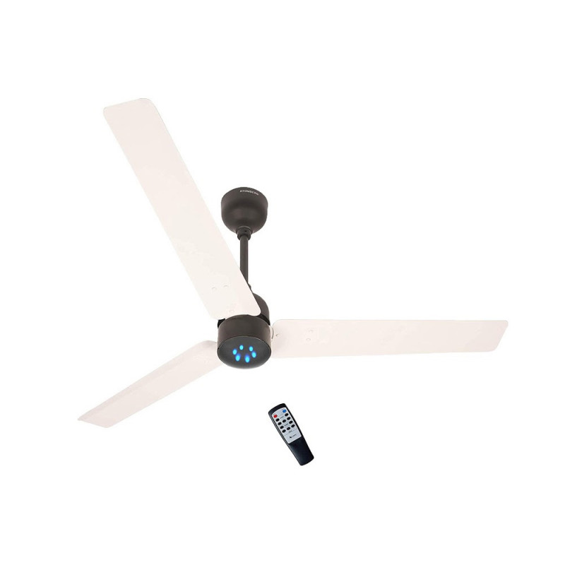 Atomberg Renesa Ceiling Fan With Remote Control and BLDC Motor, 1200mm (White Black)