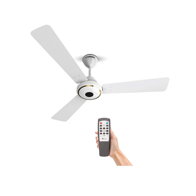 Atomberg Studio Ceiling Fan With Remote Control and BLDC Motor, 1200mm (Pearl White)