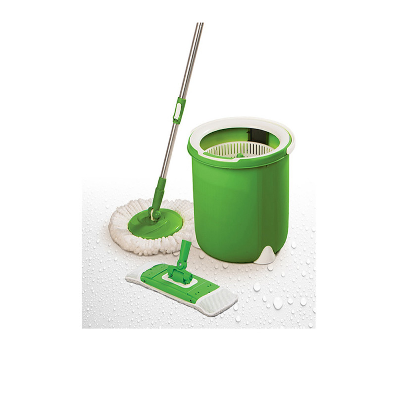 3M Scotch Brite Jumper Spin Mop With 1 Round Refill & 1 Flat Refill
