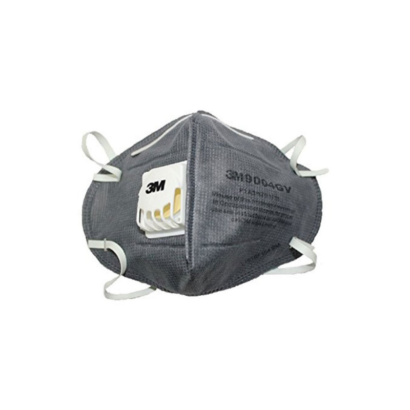 3M 9004GV Anti Pollution Particulate Respirator Mask, Grey (Pack of 10)