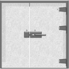 Hafele Square Glass Door Strike Plate 8-12 mm SS P...