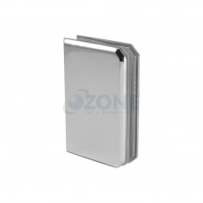 Ozone Wall to Glass Bracket (OSH-5), Satin Finish