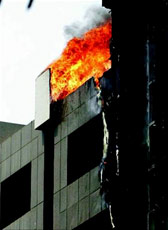 Fire at Kalina building, short circuit suspected