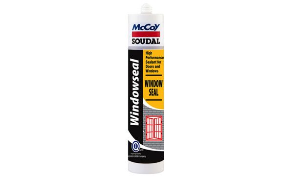 Which Sealant should be used to seal PVC windows?