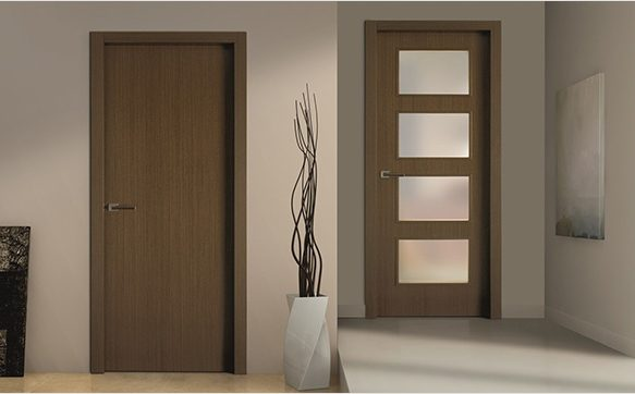 Flush Door vs. Panel Door