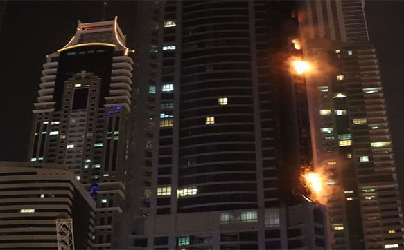 Dubai's Torch Tower engulfed in fire