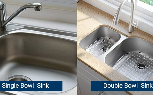 Single Bowl vs Double Bowl Sink : Pros and Cons