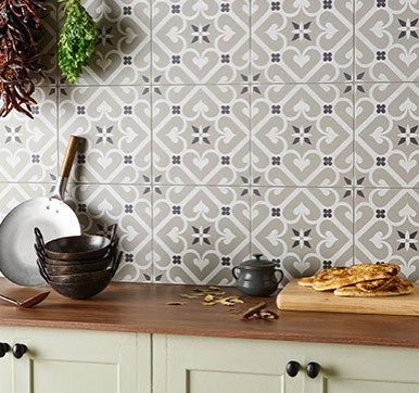 Printed Kitchen Wall Tile Design