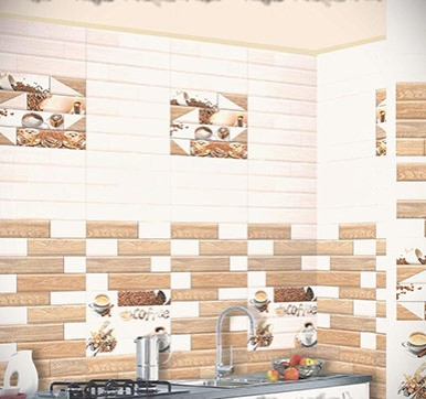 Wooden White Brick Kitchen Wall Tiles