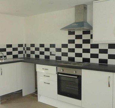 Black and White Kitchen Tiles
