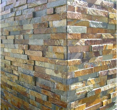 irregular shaped stone Cladding