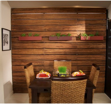 Wooden Wall  Cladding with shaded tones