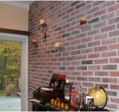 Simple Brick wall cladding