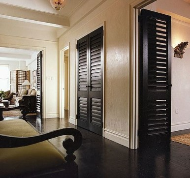 Solid Wood Louvered Door