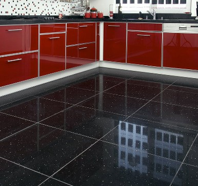 Black Marble Modular Kitchen Floor Tile