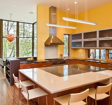 Kitchen Island Design with lights