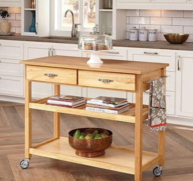 Portable Wooden Kitchen Island