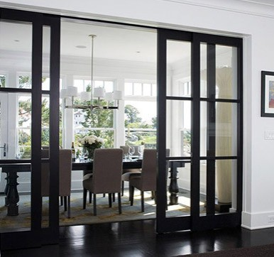 sliding door with glass
