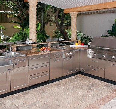 Outdoor Steel Kitchen Design