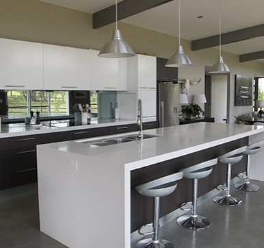 Glassy Kitchen Island