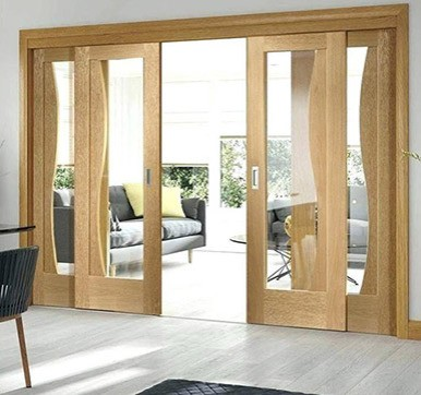 wooden sliding door