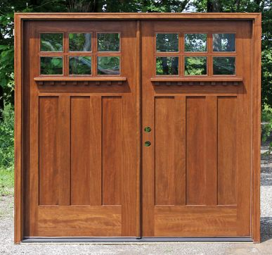 Huge double hung entrance doors