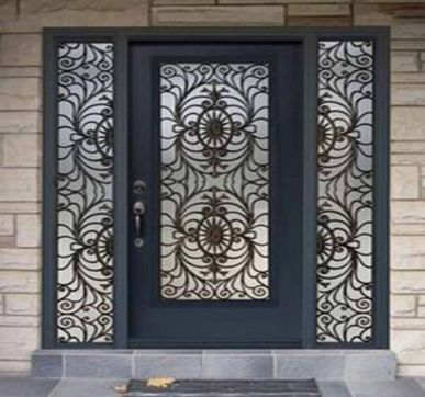 Grilled New entrance door design