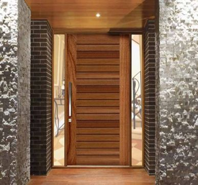 Super luxurious pivot timber entrance doors