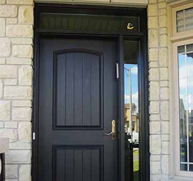 Single fibreglass entrance door design