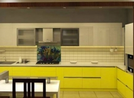 L Shaped Modular Kitchen by  Concept 2 Designs LLP