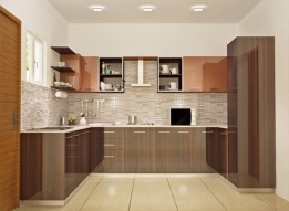 Wooden Modular Kitchen by Earthen Roots