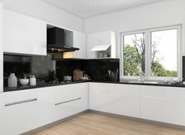 L Shaped Modular Kitchen by Earthen Roots