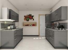 U Shape Modular Kitchen by Earthen Roots