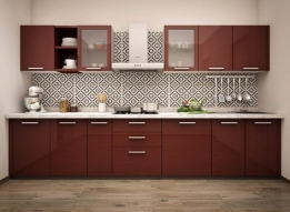 Straight Modular Kitchen by RS Enterprises