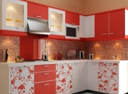 L Shaped Modular Kitchen by RS Enterprises